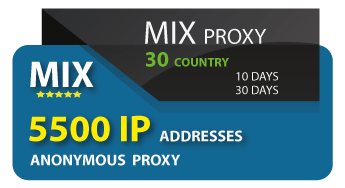 5500 IP addresses of anonymous proxies
