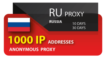 RUSSIA PROXY - 1000 IP
